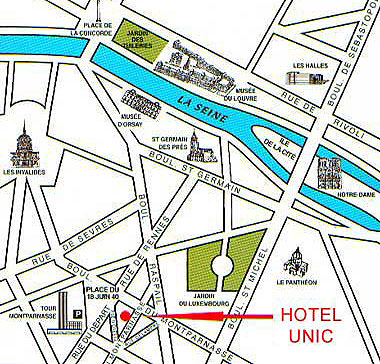 Map and access how to reach us hotel unic paris near - Trajet metro gare de lyon porte de versailles ...
